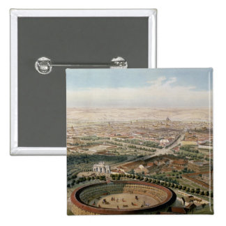 Aerial View of Madrid from the Plaza de Toros 2 Inch Square Button