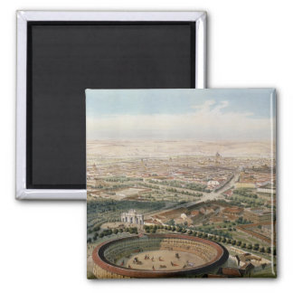 Aerial View of Madrid from the Plaza de Toros Magnet