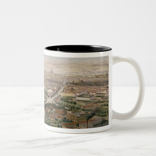 Aerial View of Madrid from the Plaza de Toros Two-Tone Coffee Mug