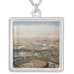 Aerial View of Madrid from the Plaza de Toros Square Pendant Necklace