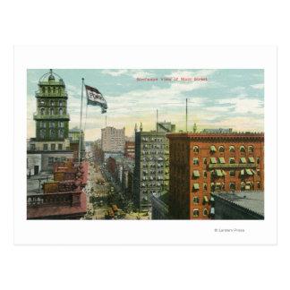 Aerial View of Main Street 2 Postcard
