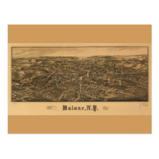 Aerial View of Malone, New York (1886) Postcard