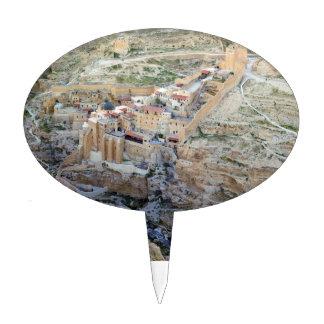 Aerial view of Mar Saba Monastery Cake Picks