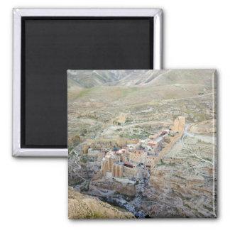 Aerial view of Mar Saba Monastery Magnet