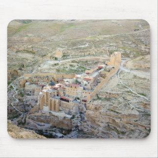 Aerial view of Mar Saba Monastery Mousepads
