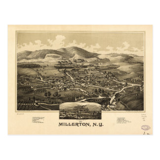 Aerial View of Millerton, New York (1887) Postcard