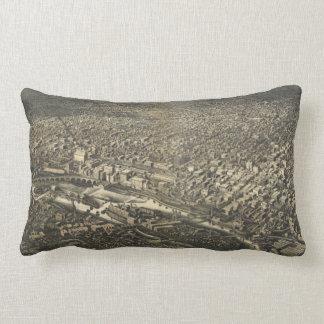 Aerial View of Minneapolis, Minnesota (1885) Lumbar Pillow