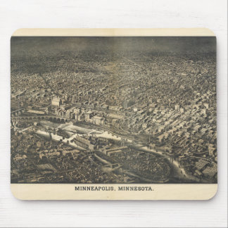 Aerial View of Minneapolis, Minnesota (1885) Mouse Pad
