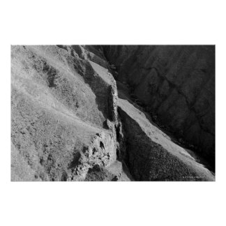 Aerial view of mountain poster