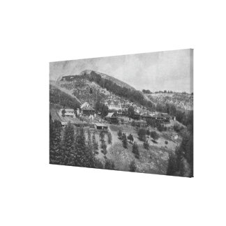 Aerial View of Mountain View Ranch Canvas Print