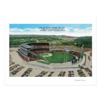 Aerial View of New Milwaukee County Stadium Postcard