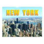 Aerial view of New York City Postcard