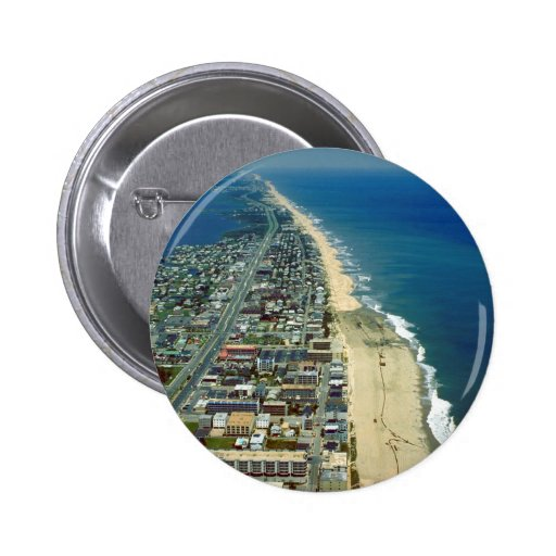 Aerial View of Ocean City Maryland Pinback Button