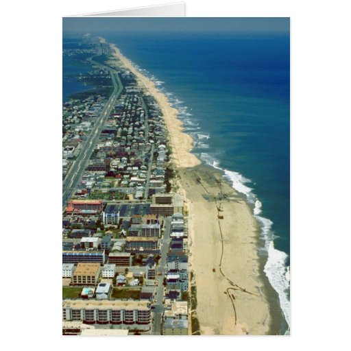 Aerial View of Ocean City Maryland Greeting Cards
