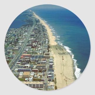 Aerial View of Ocean City Maryland Classic Round Sticker