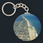 """Aerial View of Ocean City Maryland Keychain<br><div class=""""desc"""">This is an Aerial photograph of Ocean City Maryland.</div>"""