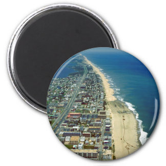 Aerial View of Ocean City Maryland 2 Inch Round Magnet