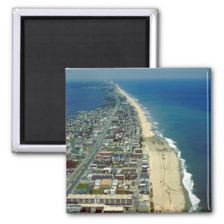 Aerial View of Ocean City Maryland 2 Inch Square Magnet