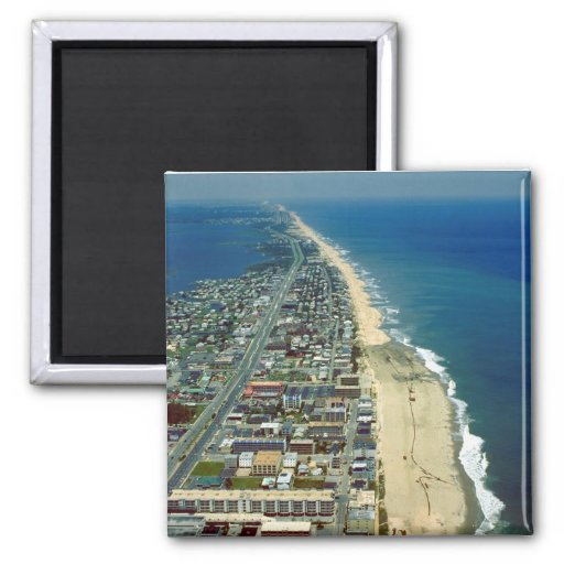 Aerial View of Ocean City Maryland Fridge Magnet