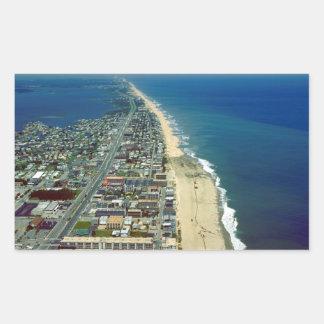 Aerial View of Ocean City Maryland Rectangular Sticker