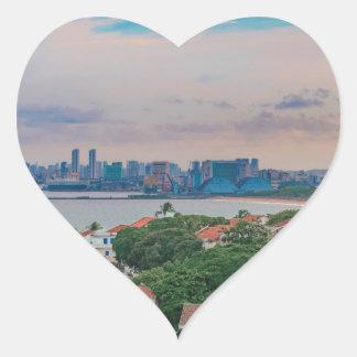 Aerial View of Olinda and Recife Pernambuco Brazil Heart Sticker