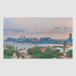 Aerial View of Olinda and Recife Pernambuco Brazil Rectangular Sticker