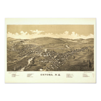 Aerial View of Oxford, New York (1888) Card