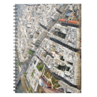 Aerial view of Paris, France Spiral Note Books