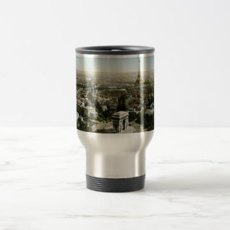Aerial View of Paris, France Vintage Travel Mug