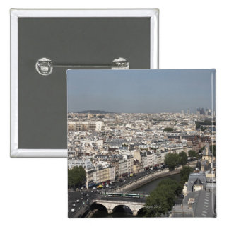 aerial view of PARIS Pinback Button