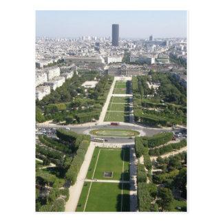 Aerial View of Paris Postcard