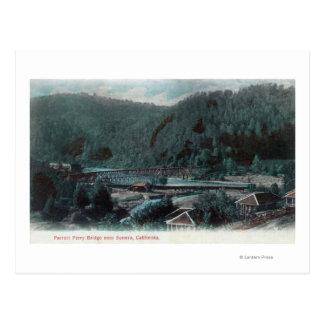 Aerial View of Parrott Ferry BridgeSonora CA Post Card