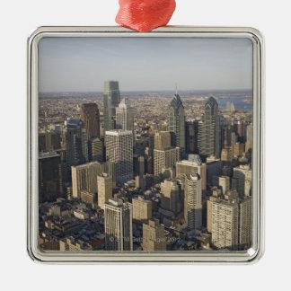 Aerial view of Philadelphia, Pennsylvania Metal Ornament