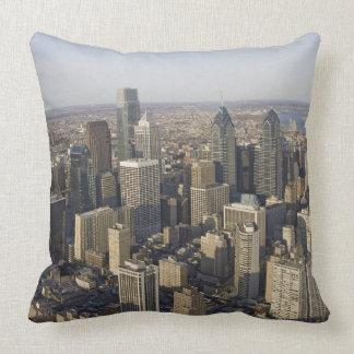 Aerial view of Philadelphia, Pennsylvania Pillows