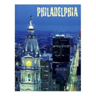 Aerial view of Philadelphia with City Hall Postcard