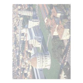 Aerial view of Pisa, Italy Letterhead Design