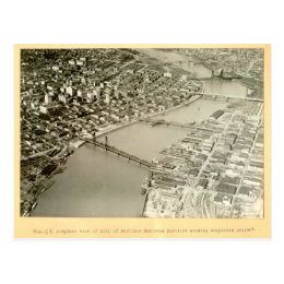 Aerial View of Portland, OR - 1922 Postcard