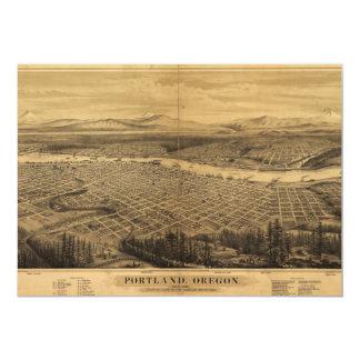 Aerial View of Portland, Oregon (1879) Card