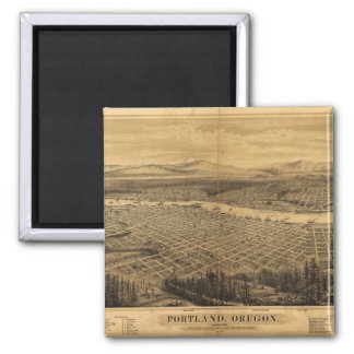 Aerial View of Portland, Oregon (1879) Magnet
