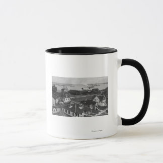 Aerial View of Residences and River Front Mug