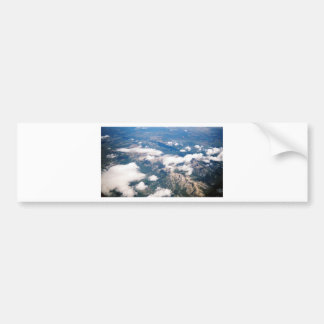 Aerial View of Rocky Mountains Bumper Sticker