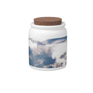 Aerial View of Rocky Mountains Candy Jar