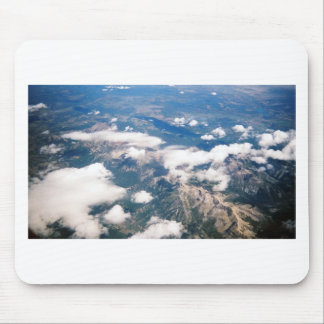Aerial View of Rocky Mountains Mouse Pad
