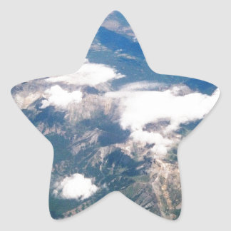 Aerial View of Rocky Mountains Star Sticker