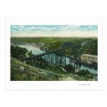 Aerial View of Rondout Creek and Wilbur Bridge Post Cards