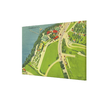 Aerial View of Roseland Park Canvas Print