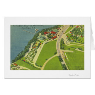 Aerial View of Roseland Park Greeting Cards