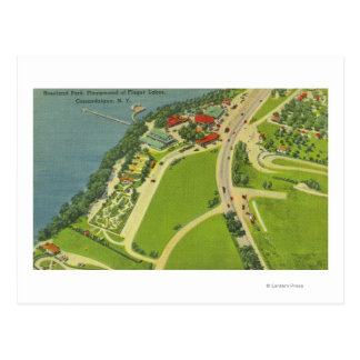 Aerial View of Roseland Park Postcard