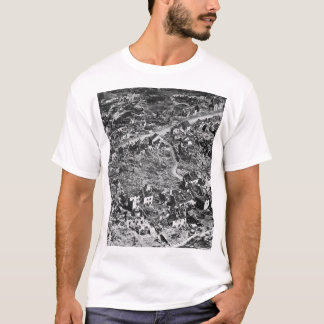 Aerial view of ruins of Vaux,France,1918_War Image T-Shirt