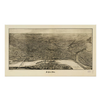Aerial View of Saint Paul, Minnesota (1906) Poster